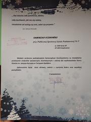 Galeria Podziękowanie dla Samorządu Uczniowskiego naszej szkoły