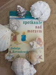 """Książka pod tytułem """"Spotkanie nad morzem""""."""