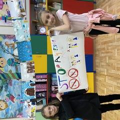Wspólna praca Ali i Julii z klasy drugiej b