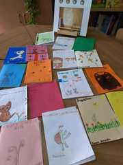 Wystawa książek autorstwa uczniów klasy 2b.