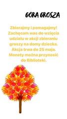 Plakat informacyjny o akcji Góra Grosza.