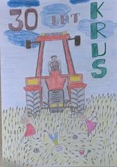 Na traktorze.