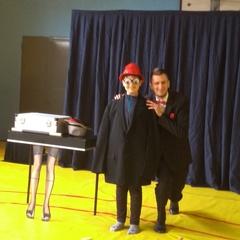 Dwaj magicy na scenie