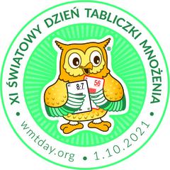 Logo światowego Dnia Tabliczki Mnożenia.