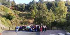 Klasa 7c, 8b i 8c na punkcie widokowym geoparku Góry Św. Anny.