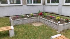 Galeria Ogródek przyszkolny  przy Zespole Szkół Sportowych nr 1 w Krapkowicach